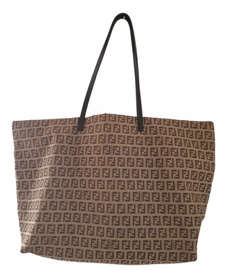 Fendi Roll Bag Beige Cloth Handbags