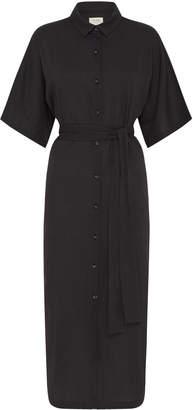 ST. AGNI Ceci Belted Cotton Shirt Dress