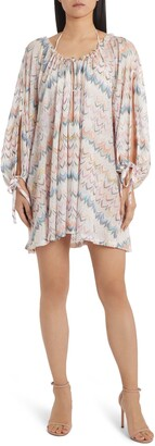 Missoni Mare Zigzag Long Sleeve Cover-Up Minidress
