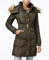 Rachel Roy Hooded Faux-Fur Trim Quilted Puffer Coat, Only at Macy's