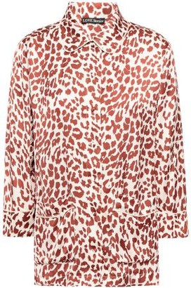 Love Stories Joe Leopard-print Satin Pajama Top