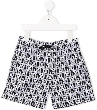 Dolce & Gabbana Kids DG print swim shorts