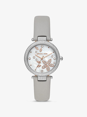 Michael Kors Parker Pave Two-Tone Watch - Silver