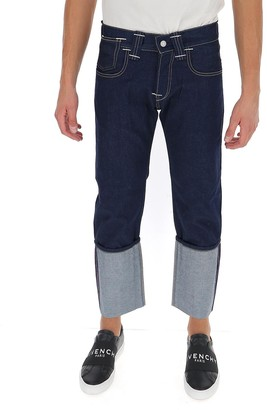 Junya Watanabe X Levi's Contrast Panelled Cropped Jeans