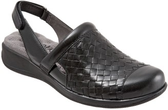 SoftWalk Leather Slingback Clogs - Salina