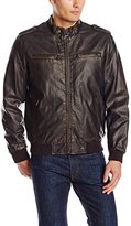 Levi's Men's Faux-Leather Fashion Bomber Jacket