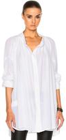 Ann Demeulemeester Long Blouse in White.