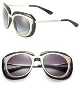 Dolce & Gabbana 51MM Metal & Nylon Double-Layer Sunglasses