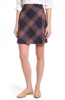 Petite Women's Halogen Plaid Miniskirt