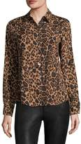 Karl Lagerfeld Women's Printed Buttoned Blouse