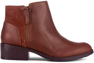 London Fog Cassie Leather Suede Ankle Booties