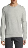 Knit Rib Detail Crew Sweater