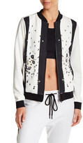 Cynthia Rowley Embroidered Floral Bomber Jacket