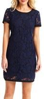 Donna Morgan Lace Short Sleeve Shift Dress