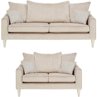 Laurence Llewellyn Bowen Apollo Fabric 3 Seater + 2 SeaterScatter Back Sofa Set (Buy and SAVE!)