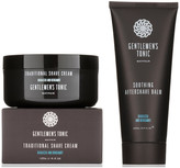 Gentlemen's Tonic Shaving Duo Traditional Shave Cream and Soothing Aftershave Balm