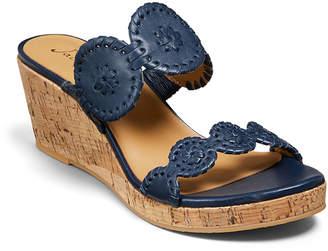 Jack Rogers Lauren Leather Wedge Sandals