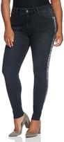 NYDJ Plus Alina Metallic Side Stripe Legging Jeans in Bristol