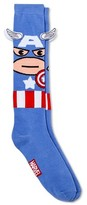 Marvel Women's Marvel's Captain America 3D Applique Knee High Socks - Blue 9-11