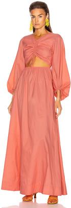 STAUD Edie Dress in Coral | FWRD