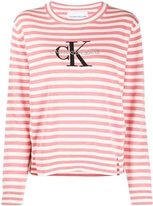 Calvin Klein Jeans striped long sleeved T-shirt