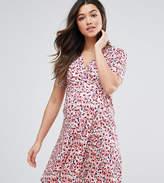 Asos Tall Nursing Pretty Print Wrap Dress