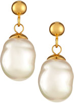 Majorica 18K Gold Vermeil Baroque Pearly Earrings