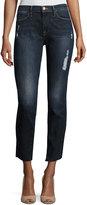 Frame Le High Skinny Crop Cascade Hem Jeans, Blue