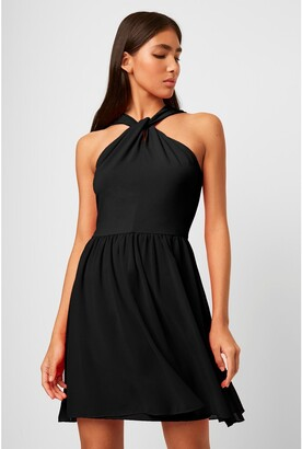 French Connenction Panthea Jersey Halter Mini Dress