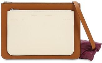 MONCLER GENIUS Moncler X Valextra Leather Shoulder Bag
