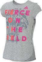 adidas Fierce On The Field Graphic T-Shirt, Big Girls (7-16)