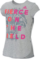 adidas Fierce On The Field Graphic T-Shirt, Toddler & Little Girls (2T-6X)