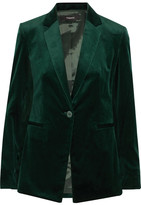 Theory Cotton-blend Velvet Blazer - Green
