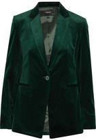 Theory Cotton-blend Velvet Blazer - Green