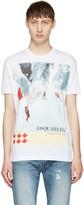 DSQUARED2 White Chic Dan Mountain Climbers T-shirt