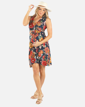 Angel Maternity Women's Red Wrap Dresses - Maternity Wrap Nursing Dress - Size One Size, XS at The Iconic
