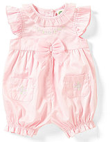 Little Me Baby Girls 3-12 Months Flower-Embroidered Romper