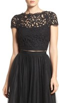 Adrianna Papell Lace Crop Top