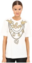 Love Moschino T-Shirt with Gold Love Women's T Shirt