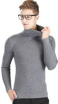 OCHENTA Men's Super Elastic Bottom Turtleneck Knitted Pullover Sweater