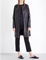 Jil Sander Collarless leather coat
