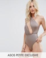 Asos Asymmetric One Shoulder Glam Swimsuit