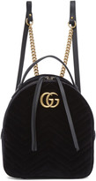 Gucci Black Velvet GG Marmont 2.0 Backpack