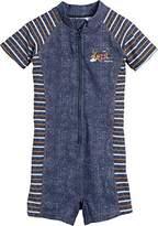 Playshoes Boy's Einteiler Ahoi mit UV-Schutz Swim Shorts, Blue (jeansblau)