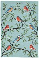 Liora Manné Trans Ocean Imports Ravella Birds On Branches Indoor Outdoor Rug