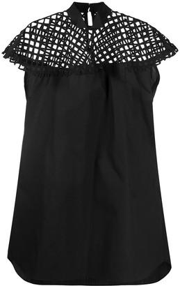 Sacai Mesh Panel Dress