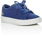 Lacoste Boys' L.12.12 Piqué Knit Lace Up Sneakers - Walker, Toddler