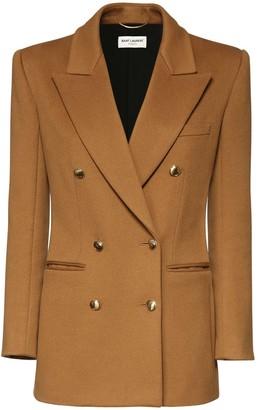 Saint Laurent Wool & Cashmere Flannel Jacket