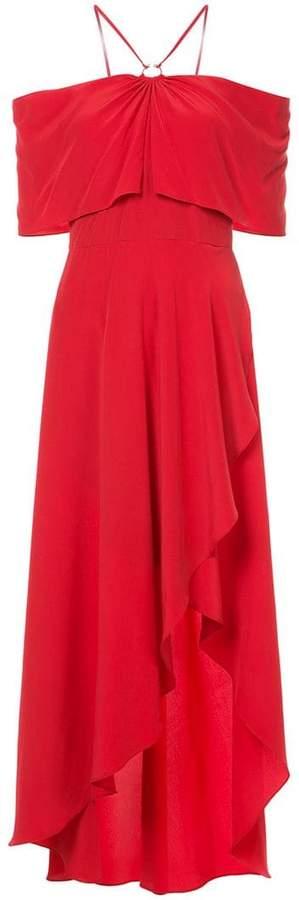 Yigal Azrouel cold shoulder ruffled dress