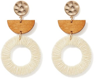 Forever New Fiona Textured Drop Earrings - Natural - 00